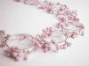Detail - Pink Circles Neckpiece