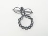 'Over-balanced' Oxidised sterling silver