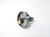 'Toy – Around and Around – Damage with Every Movement' Oxidised sterling silver, recycled 18ct yellow gold wedding ring
