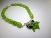 Leaf Neckpiece, cast Sterling Silver branch & Glass