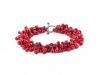 Bracelet Red Glass & Silver