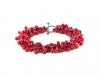 Bracelet Red Glass & Silver