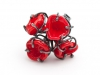Ring Bouquet Red Glass & Silver
