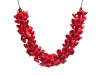 Neckpiece Pods Red Glass & Silver