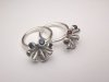 Silver Pod rings with Garnets & Sapphires