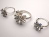 3 Pod rings with Garnets & Sapphires