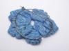 Blue flower brooch rear
