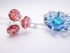 blue flower branch brooch