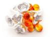 Coral Garden Ring - orange