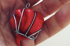 Blown wire pendant
