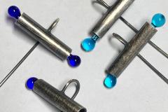 Earrings  - Silver & glass