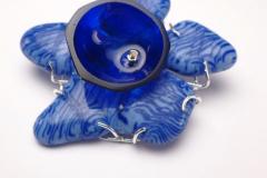 Brooch  - Silver & glass