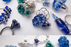 Rings  - Silver & glass