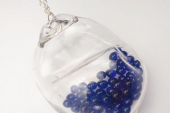 Pendant  - Silver & glass