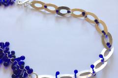 Neckpiece - Silver & glass