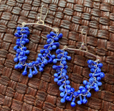 Chandelier Earrings, Glass and silver