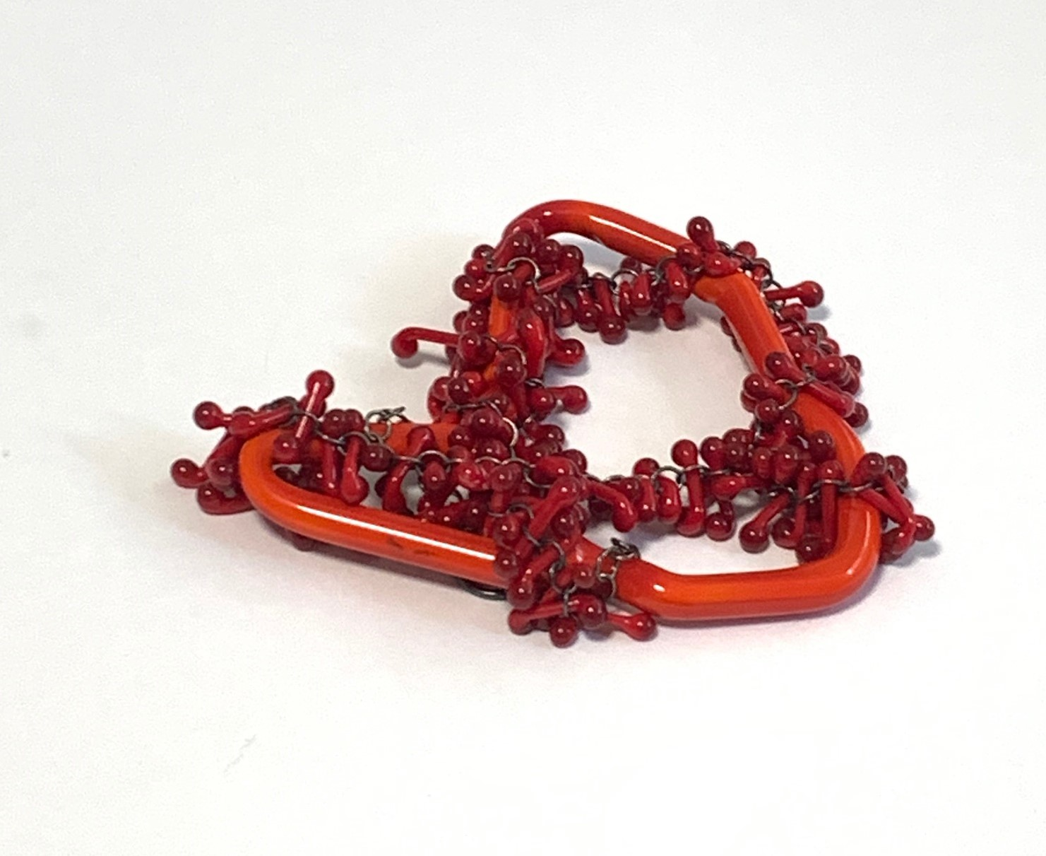 """""""Exposure site"""" Brooch - lampworked glass, silver, 2021"""